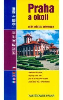 Kartografie PRAHA Praha a okolí 1:20 000/1:150 000 cena od 44 Kč