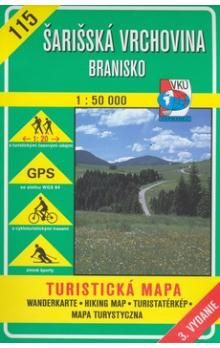 VKÚ Šarišská Vrchovina Branisko 1:50 000 cena od 73 Kč