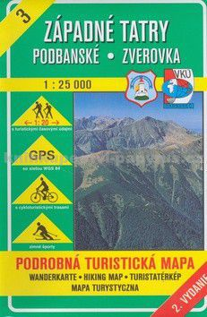 VKÚ Západné Tatry Podbanské Zverovka 1 : 25 000 cena od 0 Kč