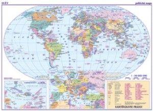 Kartografie PRAHA Svět Politická mapa cena od 39 Kč
