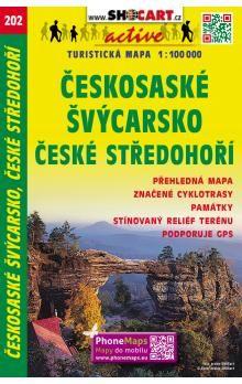 Českosaské Švýcarsko České středohoří 1:100 000 cena od 60 Kč