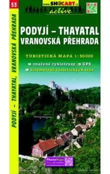 Podyjí-Thayatal Vranovská přehrada 1:50 000 cena od 73 Kč