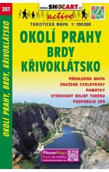 Okolí Prahy Brdy Křivoklátsko 1:100 000 cena od 57 Kč