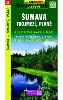 Šumava Trojmezí Pláně 1:50 000 cena od 85 Kč