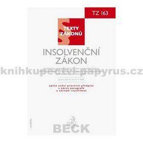 CH BECK Insolvenční zákon, právní stav ke dni 15. 9. 2009 cena od 74 Kč