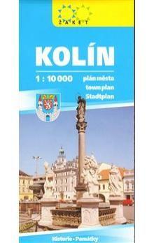 Žaket Kolín plán města 1:10 000 cena od 17 Kč