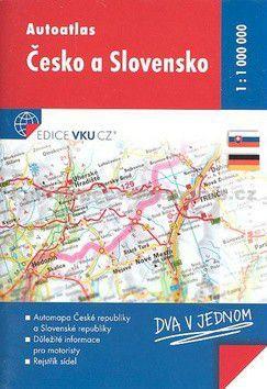 VKU CZ Autoatlas Česko a Slovensko 1:1 000 000 cena od 51 Kč