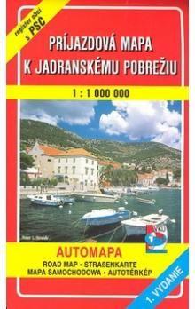 VKÚ Príjazdová mapa k Jadranskému pobrežiu 1 : 100 000 cena od 65 Kč