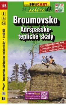Broumovsko Adršpašsko-teplické skály 1:60 000 cena od 90 Kč