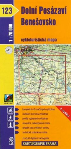 Kartografie PRAHA Dolní Posázaví, Benešovsko cena od 18 Kč