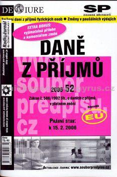 Martin Novotný: Daně z příjmu v platném znění k 15.2.2006 cena od 55 Kč