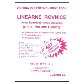 Marián Olejár, Iveta Olejárová: Lineárne rovnice I.diel cena od 56 Kč