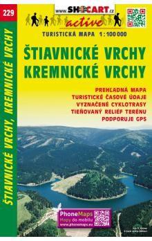 SHOCART Štiavnické vrchy, Kremnické vrchy turistická mapa cena od 59 Kč