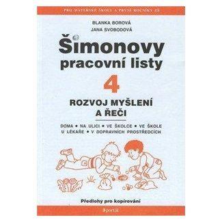 Blanka Borová, Jana Svobodová: Šimonovy pracovní listy 4 cena od 99 Kč