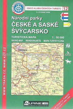 KČT 12 České a Saské Švýcarsko 1:50 000 cena od 89 Kč