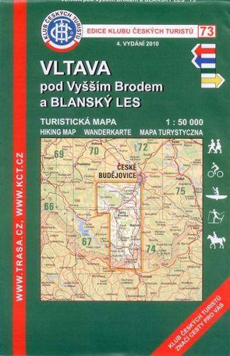 KČT 73 Vltava pod Vyšším Brodem a Blanský Les 1:50 000 cena od 79 Kč