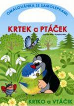 Zdeněk Miler: Krtek a ptáček - omalovánka se samolepkami cena od 43 Kč