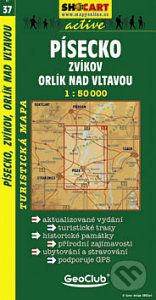 Geoclub Písecko, Zvíkov, Orlík nad Vltavou - 1:50000 tur. mapa cena od 94 Kč