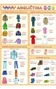 Kupka a  Petr: Obrázková angličtina 4 - Oblečení cena od 18 Kč