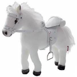 GöTZ Kůň Götz plyšový - bílý se zvukem, panenky 27-5 bílý