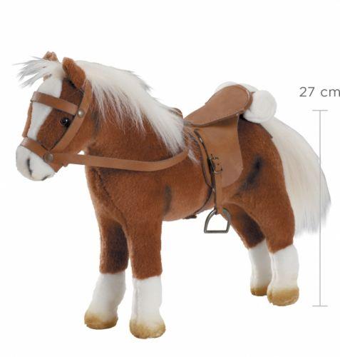 GöTZ Kůň Götz plyšový - hnědý, panenky 27-50cm hnědý