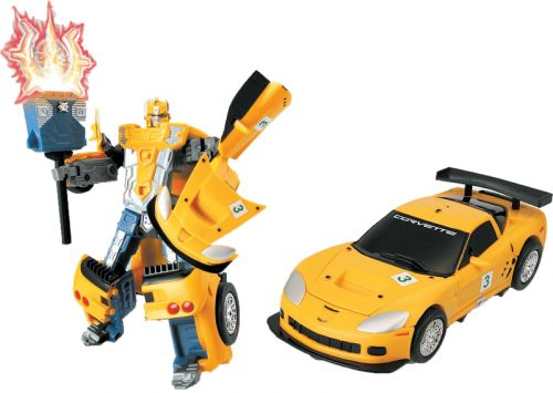 MAC TOYS Robot Corvette C6R 1:32 žlutý cena od 287 Kč