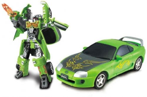 MAC TOYS Robot Toyota Supra 1:32 zelený cena od 241 Kč
