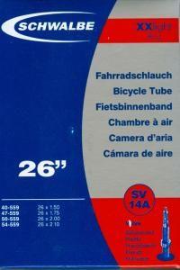 """Schwalbe Duše XX light 26*1,5-2,1""""; 95 g (SV14A)"""