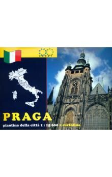 Žaket Praga piantina della cittá 1:15 000 + cartolina cena od 23 Kč