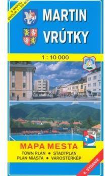VKÚ Martin, Vrútky 1:10 000 Mapa mesta Town plan Stadt cena od 58 Kč