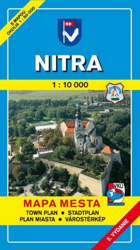 VKÚ Nitra 1:10 000 Mapa mesta Town plan Stadtplan Plan cena od 62 Kč