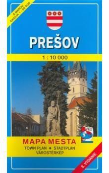 VKÚ Prešov 1:10 000 Mapa mesta Town plan Stadtplan Pla cena od 65 Kč