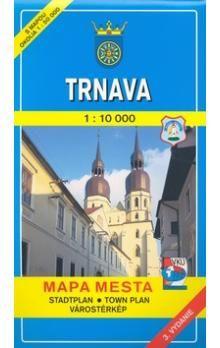 VKÚ Trnava 1:10 000 Mapa mesta Town plan Stadtplan Pla cena od 64 Kč