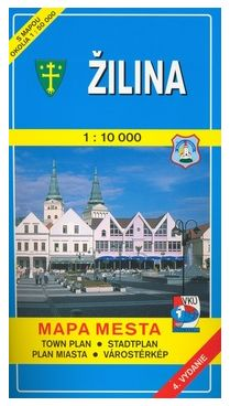 VKÚ Žilina 1:10 000 Mapa mesta Town plan Stadtplan Pla cena od 59 Kč