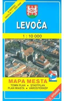VKÚ Levoča 1 : 10 000 Mapa mesta Town plan Stadtplan P cena od 48 Kč