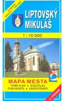 VKÚ Liptovský Mikuláš 1 : 10 000 Mapa mesta Town plan cena od 48 Kč