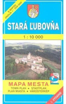 VKÚ Stará Ľubovňa 1 : 10 000 Mapa mesta Town plan Stad cena od 48 Kč
