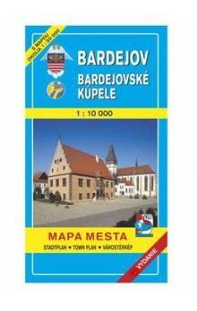 VKÚ Bardejov Bardejovské kúpele Mapa mesta Town plan S cena od 58 Kč