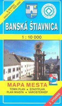 VKÚ Banská Štiavnica 1 : 10 000 Mapa mesta Town plan S cena od 48 Kč