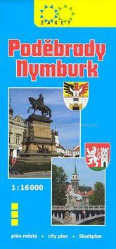 Žaket Poděbrady, Nymburk plán měst 1:16 000 cena od 22 Kč