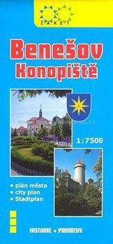 Žaket Benešov plán města 1:7500 cena od 19 Kč