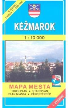 VKÚ Kežmarok 1 : 10 000 Mapa mesta Town plan Stadtplan cena od 48 Kč