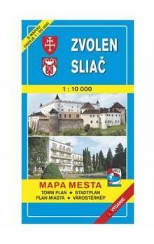 VKÚ Zvolen Sliač Mapa mesta Town plan Stadtplan Plan m cena od 61 Kč
