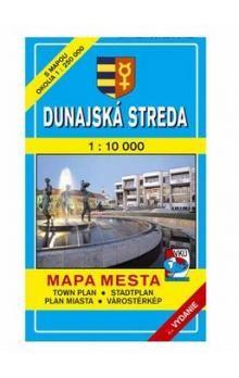 VKÚ Dunajská Streda Mapa mesta Town plan Stadtplan Pla cena od 47 Kč