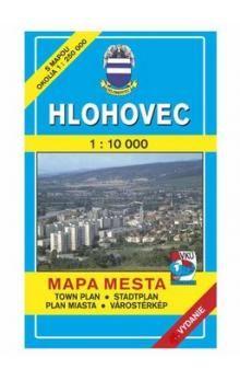 VKÚ Hlohovec Mapa mesta Town plan Stadtplan Plan miast cena od 43 Kč