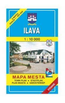 VKÚ Ilava Mapa mesta Town plan Stadtplan Plan miasta V cena od 44 Kč