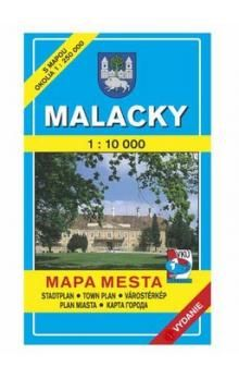 VKÚ Malacky Mapa mesta Town plan Stadtplan Plan miasta cena od 44 Kč