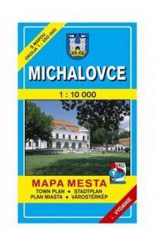 VKÚ Michalovce Mapa mesta Town plan Stadtplan Plan mia cena od 44 Kč