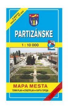 VKÚ Partizánske Mapa mesta Town plan Stadtplan Plan mi cena od 44 Kč