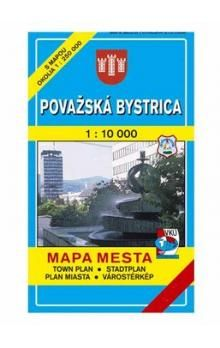 VKÚ Považská Bystrica Mapa mesta Town plan Stadtplan P cena od 44 Kč